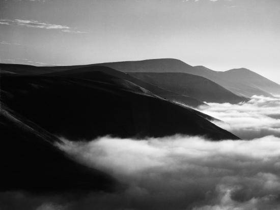 Banks of Fog Enveloping Mountains Outside San Francisco-Margaret Bourke-White-Photographic Print