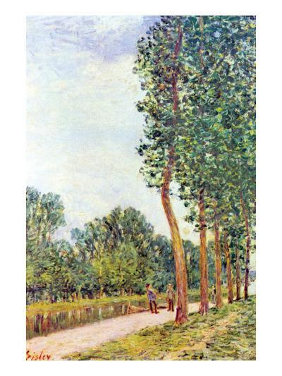 Banks of the Loing in Moret-Alfred Sisley-Art Print