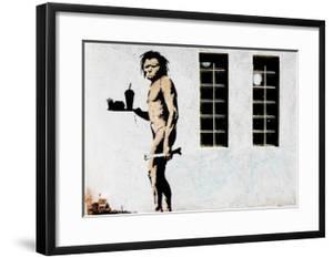 Cave Man Fast Food by Banksy