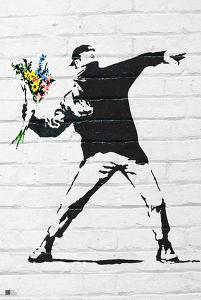 Flower Bomber by Banksy