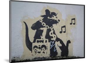 Ghetto Blaster Rat by Banksy