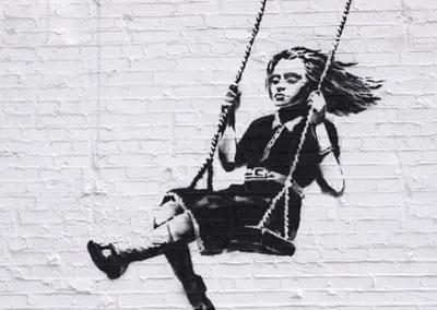 Girl on a Swing by Banksy