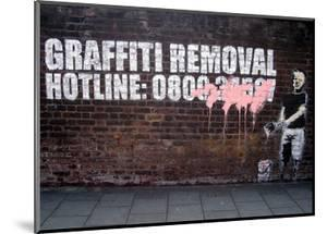 Graffiti Removal by Banksy