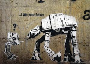 I am your father by Banksy