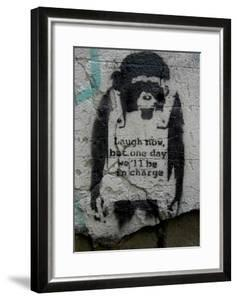 Laugh Now by Banksy