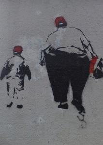 Little and Large by Banksy
