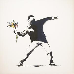 Love Is in the Air by Banksy
