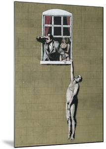 Man Hanging out of Window by Banksy