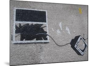 Out the window by Banksy
