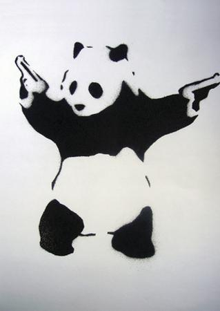 Pandamonium by Banksy