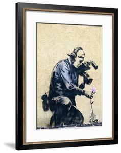 Photographer Flower by Banksy