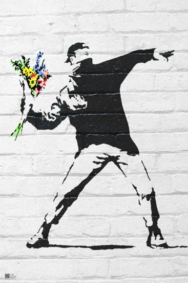 Banksy- Rage, Flower Thrower-Banksy-Poster