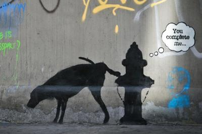 You Complete Me by Banksy