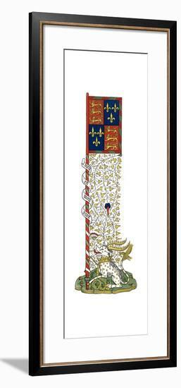 Banner of the Arms of England and France, Quartered, C1445-Henry Shaw-Framed Giclee Print