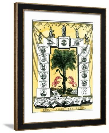 Banner of the Secession Convention in Charleston, South Carolina, c.1860--Framed Giclee Print
