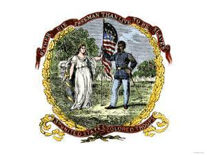 Banner of the Third U.S. Colored Troops, an African-American Regiment in the Civil War