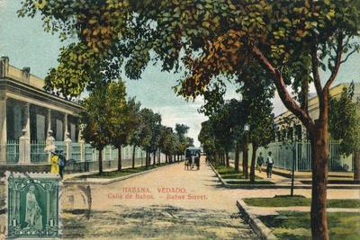 Banos Street, Havana, Cuba, C1910--Giclee Print