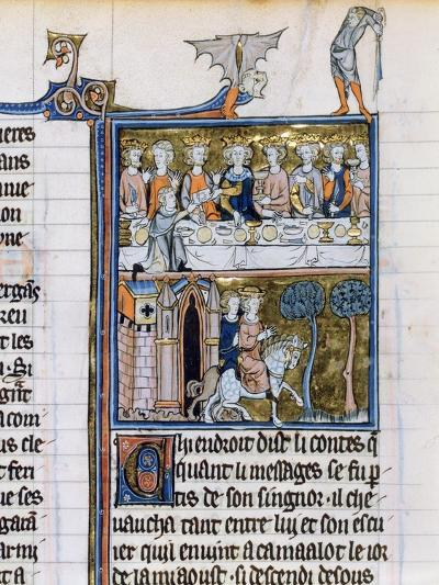 Banquet and Riders, C1280-1290--Giclee Print
