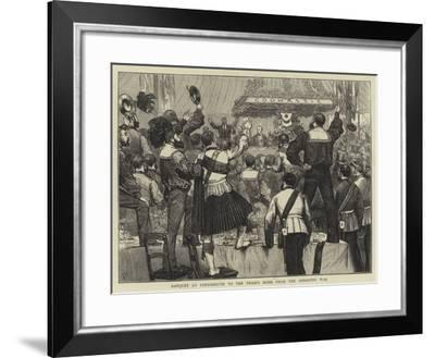 Banquet at Portsmouth to the Troops Home from the Ashantee War-Joseph Nash-Framed Giclee Print