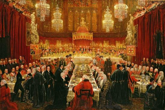 Banquet Given by the Corporation of London to the Prince Regent, the Emperor of Russia and the…-Luke Clennell-Giclee Print