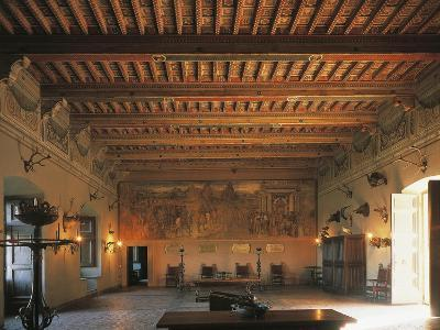 Banquet Hall of Bracciano Castle, Italy--Giclee Print