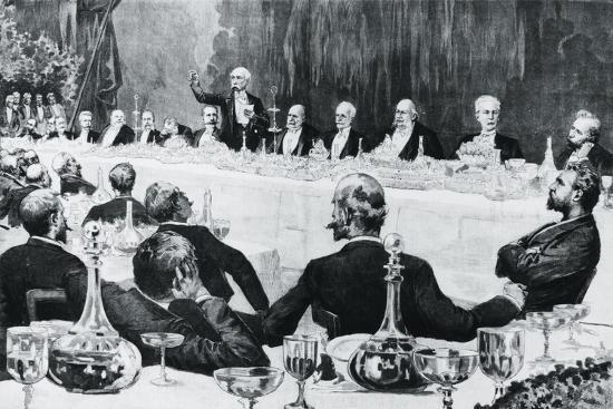 Banquet in Honor of President of Council of Ministers of Kingdom of Italy--Giclee Print