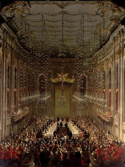 Banquet in the Redoutensaal, Vienna, 1760-Martin II Mytens/ Meytens-Giclee Print