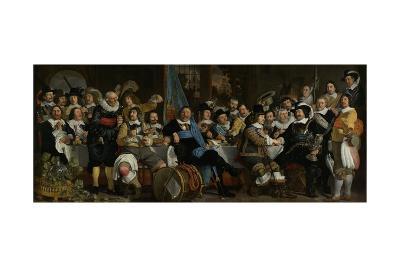Banquet of the Crossbowmen's Guild in Celebration of the Treaty of Munster, 1648-Bartolomeus Van Der Helst-Giclee Print
