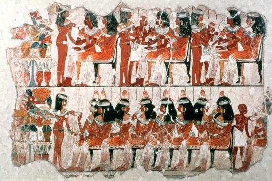Banquet Scene, 1350 BC. Artist: Unknown-Unknown-Giclee Print