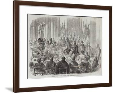 Banquet to Her Majesty's Ministers at the Mansion House-Thomas Harrington Wilson-Framed Giclee Print