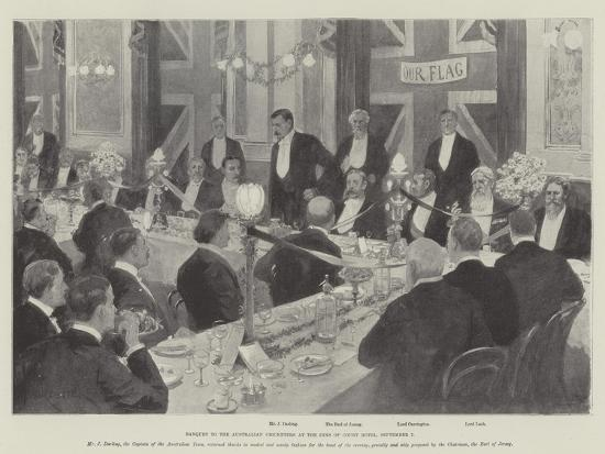 Banquet to the Australian Cricketers at the Inns of Court Hotel, 7 September-Amedee Forestier-Giclee Print