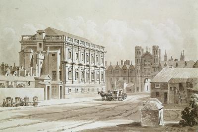 Banqueting House and King's Gate, 1827-Thomas Hosmer Shepherd-Giclee Print