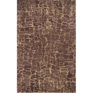 Banshee Crackle Area Rug - Chocolate/Beige 5' x 8'