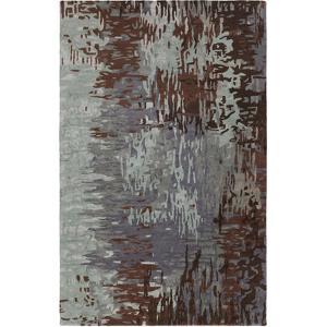 Banshee Repainted Area Rug - Slate/Chocolate 5' x 8'