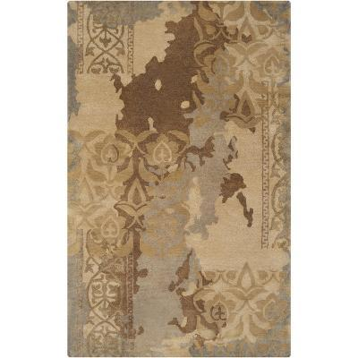 Banshee Victoraian Layers Area Rug - Gold/Mocha 5' x 8'--Home Accessories