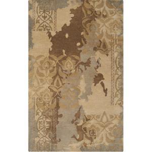 Banshee Victoraian Layers Area Rug - Gold/Mocha 5' x 8'