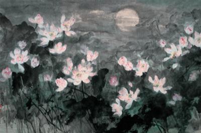 Moon and Lotus Pond