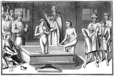 Baptism, 15th Century- Cottard-Giclee Print