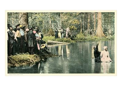 Baptism in the Lake--Art Print
