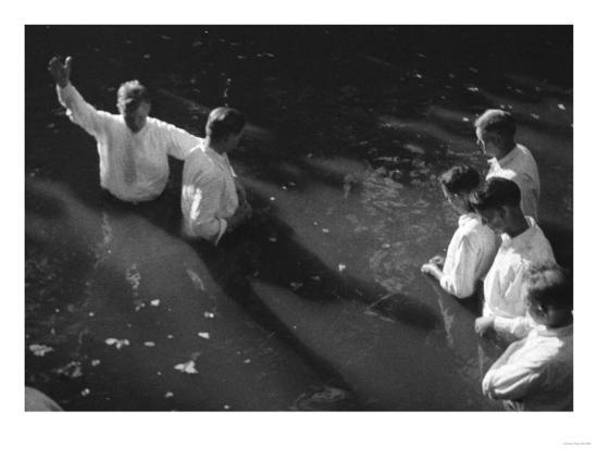 Baptism near Mineola Texas Photograph No.2 - Mineola, TX-Lantern Press-Art Print