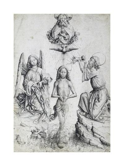 Baptism of Christ, by Master E S (Active 1420-1497), Germany, 15th Century--Giclee Print