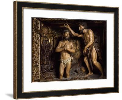 Baptism of Christ, Detail from Altarpiece Decorated with Sculptures of Philip of Burgundy--Framed Giclee Print
