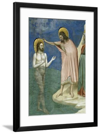 Baptism of Christ, Detail from Life and Passion of Christ, 1303-1305--Framed Giclee Print