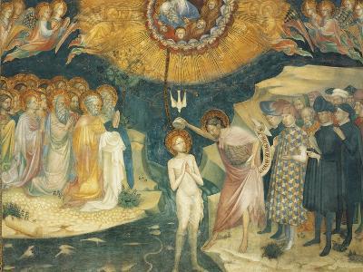 Baptism of Christ, Scene from Stories of John Baptist, 1416-Lorenzo Salimbeni-Giclee Print