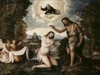 Baptism of Christ-Paris Bordone-Giclee Print