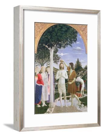 Baptism of Christ-Piero della Francesca-Framed Giclee Print