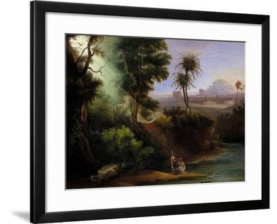 Baptism of Christ-Hermann Corrodi-Framed Giclee Print