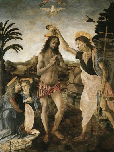 Baptism of Christ-Leonardo da Vinci-Giclee Print