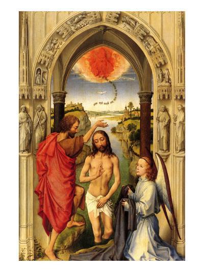 Baptism of Christ-Rogier van der Weyden-Art Print
