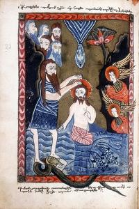 Baptism of Jesus by John the Baptist, from Armenian Evangelistery